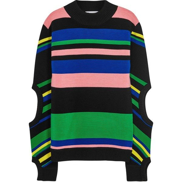 9f60baeed Womens Jumpers J.W.Anderson Striped Ribbed-knit Ottoman Jumper (8.885.625  IDR) ❤ liked on Polyvore featuring tops, sweaters, multi co…