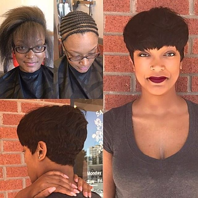 You don't have to cut your hair to rock a dope cut✂️ Love this install @atlhairbyholly ❤️ #atlstylist #install #shortcut #voiceofhair ========================== Go to VoiceOfHair.com ========================= Find hairstyles and hair tips! =========================