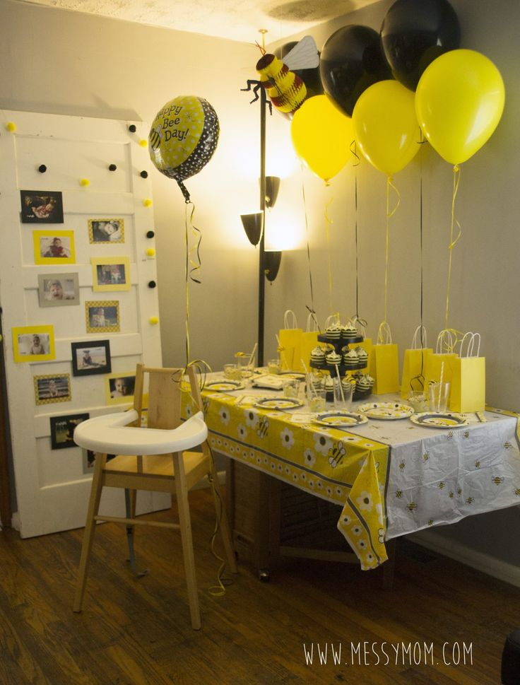 DIY Its Fun To Bee One Bumble Birthday Party An Adorable And Splendid Done In A Small Space With Budget