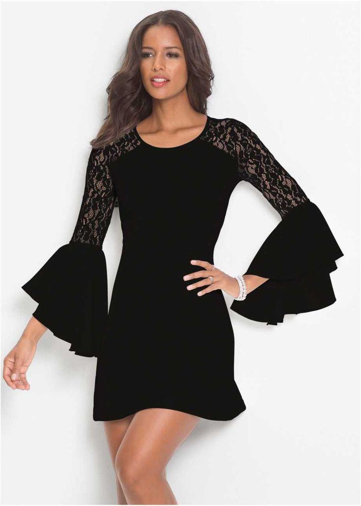 Kleid mit Volant und Spitze, BODYFLIRT boutique (mit ...