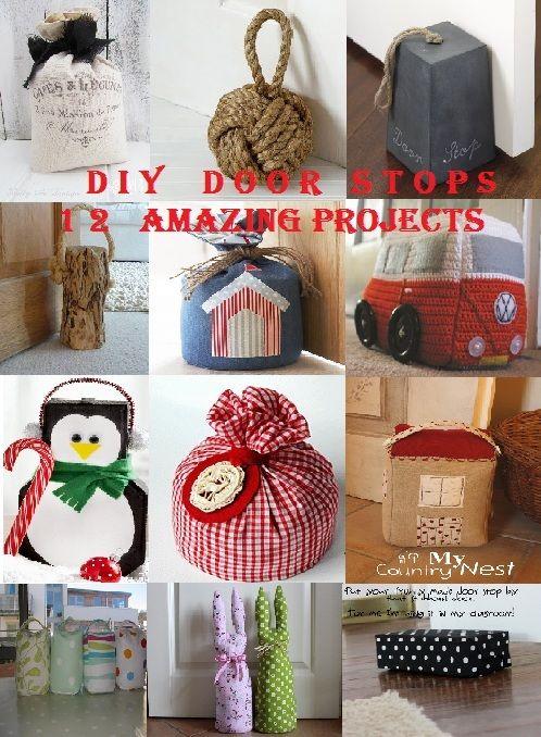 Happiness Crafty DIY Door Stops & 7 best Door stops images on Pinterest | Door stop Tops and Cloth bags