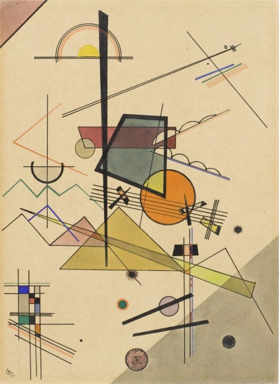 Melodious Wassily Kandinsky (Russia, Moscow, 1866-1944) Germany and France, 1924 Drawings; watercolors Watercolor and ink on paper 12 5/8 x 9 1/16 in. (32 x 23 cm)