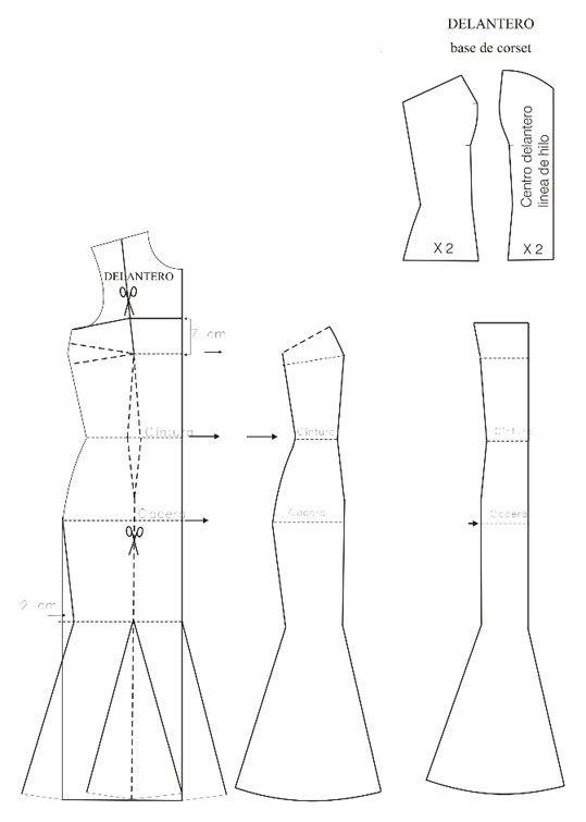 Moldes de vestidos de novia - Imagui