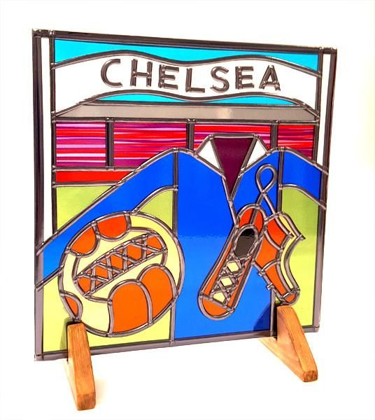 Chelsea Football Glass Gift