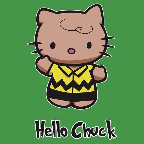 hello chuck by yayzus: Hello Chuck, Graphics Art, Kitty Art, Pretty Kitty, Hellur Kittay, Hola Kitty, Hello Kitty, Famous Character, Peanut Gang