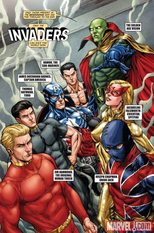 4 The Invaders Marvel Comic Books #2 3 5 6 Captain America Namor ...