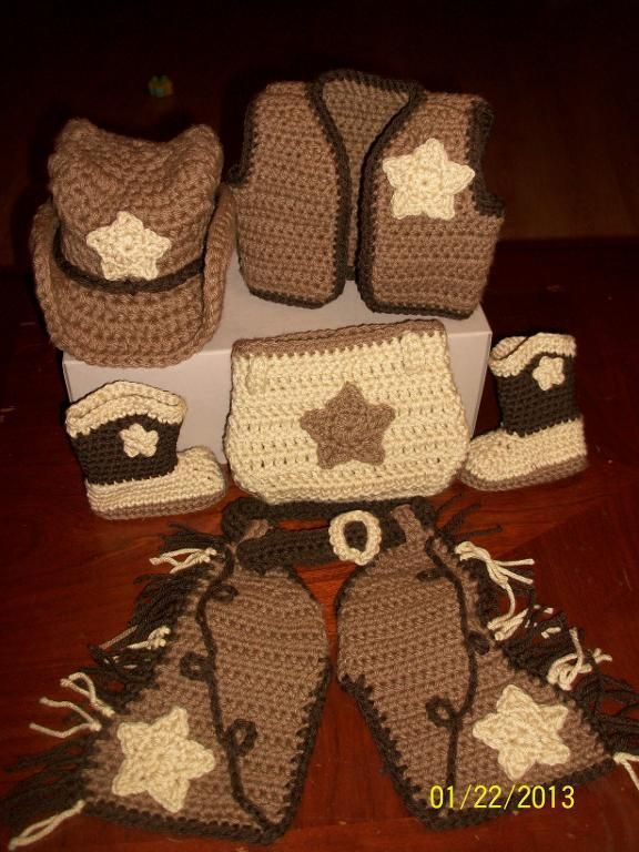 Western Hat Crochet Pattern Free | Shaw Crocheting Cowboy Set project on Craftsy.com