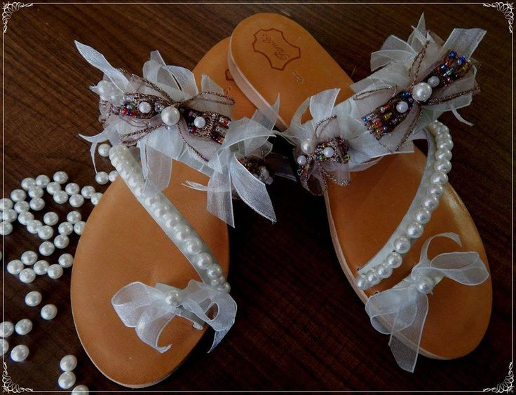 Handmade leather wedding sandal OURANIA ...... Romba's leather sandals & bags