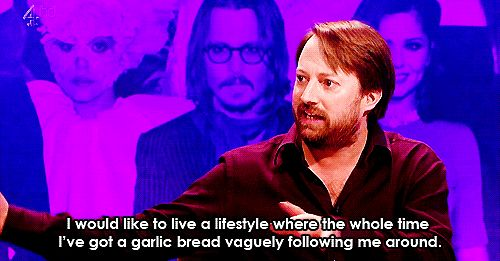 He loves food the most. | Community Post: 26 Reasons David Mitchell Is The Internet's Spirit Animal