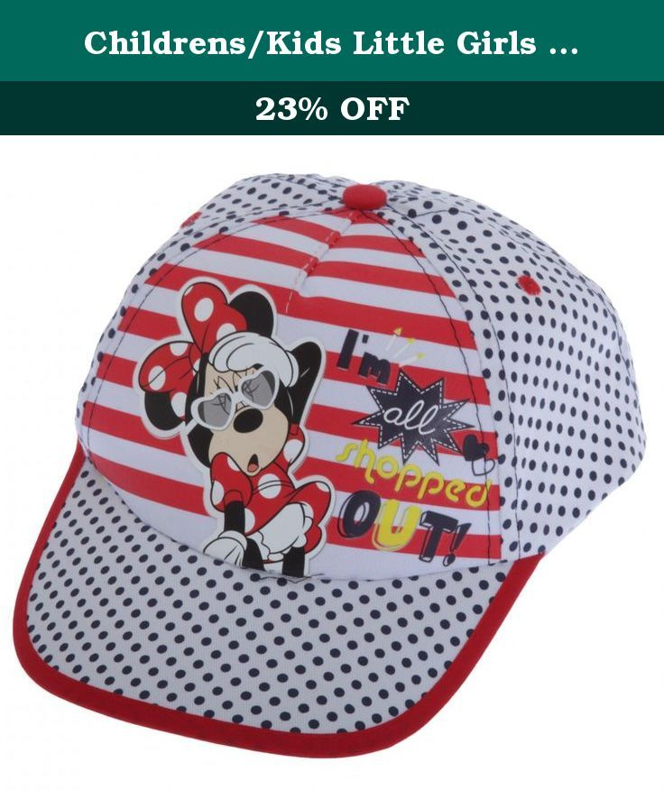 Childrens/Kids Little Girls Minnie Mouse All Shopped Out Baseball Cap (4-7 Years (54CM)) (White). Great quality kids cap. Perfect for any fan. Adjustable back for comfort and to adjust around your childs head. Made with 100% Cotton. Machine washable. This cute Minnie Mouse cap features the slogan Im All Shopped Out on a striped background with a polka dot design elsewhere and is perfect for your own little glamorous girl!.