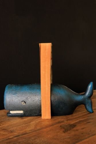Cast Iron Whale Bookends Set