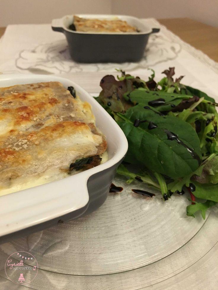 Galettes de sarrasin, épinards, champignons et crème de chèvre façon lasagnes | Cyrielle Gourmandise