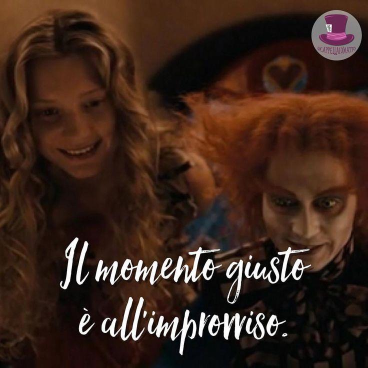"""""""Mi piace"""": 874, commenti: 9 - Cappellaio Matto (@cappellaiomattoofficial) su Instagram: """"Il momento giusto è all'improvviso.  • #cappellaio #madhatter #madness #wonderland #alice…"""""""