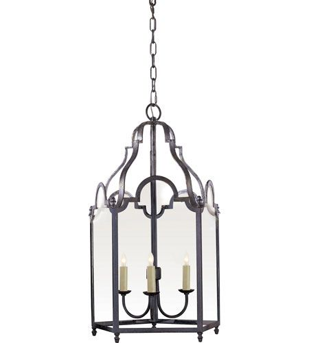white foyer pendant lighting candle. Visual Comfort E.F. Chapman French Market 3 Light Foyer Pendant In Hand Painted Blackened Rust CHC3414BR White Lighting Candle