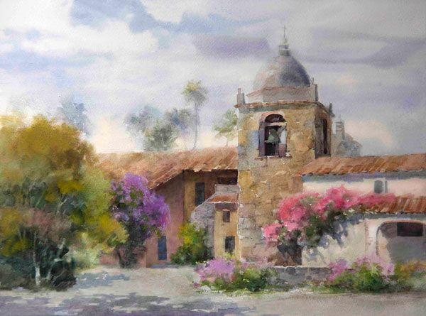 """Another great art tip from Johannes Vloothuis: Create a """"visual melody"""" in your landscape painting. More at ArtistsNetwork.com. #painting #art"""
