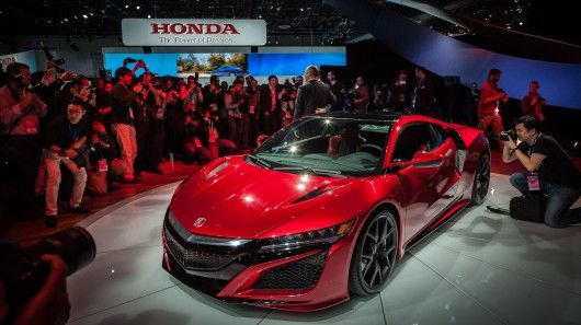 The Acura NSX Version 2.0 production specification has finally landed in Detroit. The power unit now wears two turbos, three electric motors, makes more than 550 hp, drives through a nine-speed dual clutch transmission, and will cost around US$150,000 when it hits showrooms later this year.