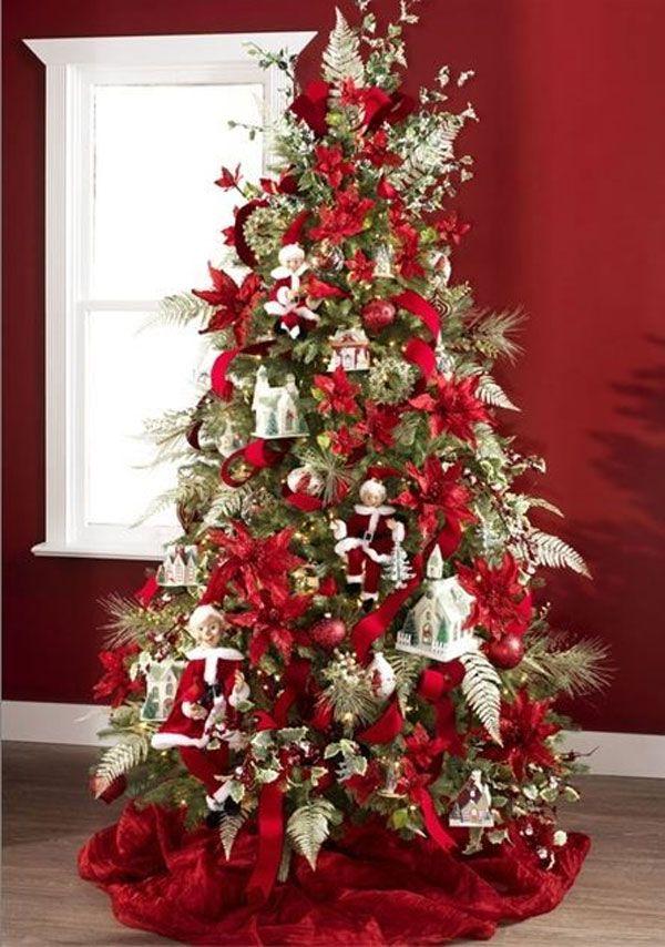 30 Creative Christmas Tree Decorations 2018 Uk Creative Christmas Trees Traditional Christmas Tree Christmas Tree Decorations Diy