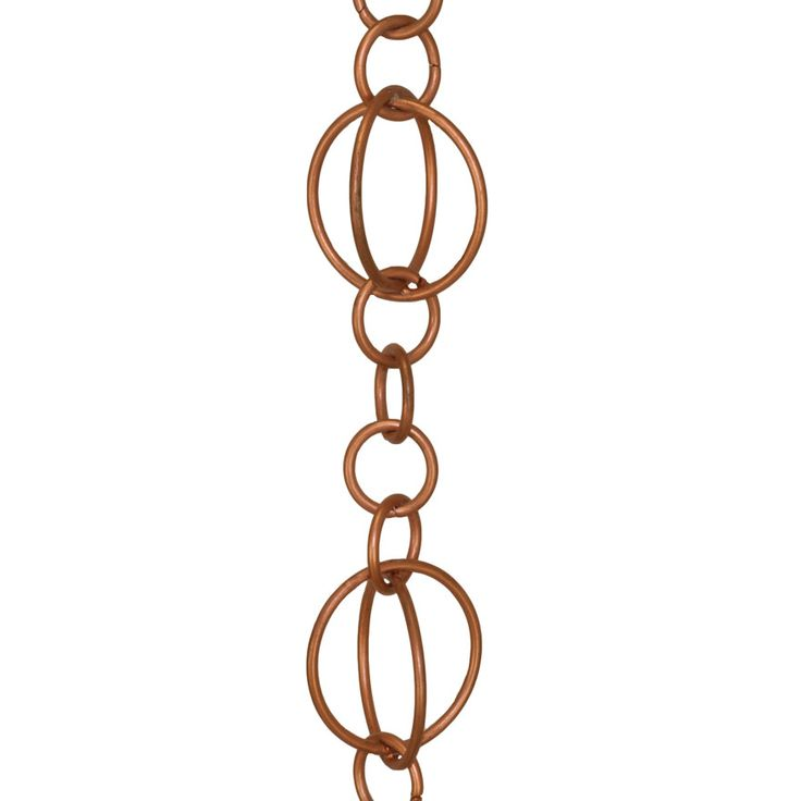 Stainless Steel W/Copper, Link Style Rain Chain
