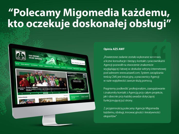 AZS AWF Warszawa. Stworzenie znakomicie wyglądającej i łatwej w obsłudze witryny internetowej.
