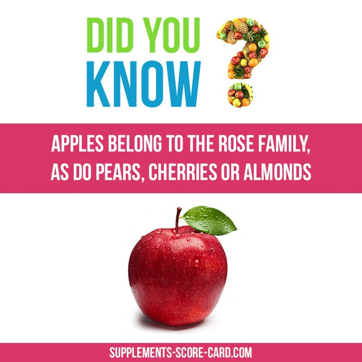 Apples belongs to the Rose family, as do pears, cherries or almonds