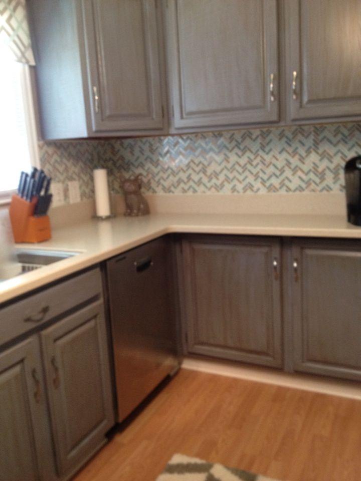 Rustoleum Cabinet Transformations in Glazed Cottage Blue