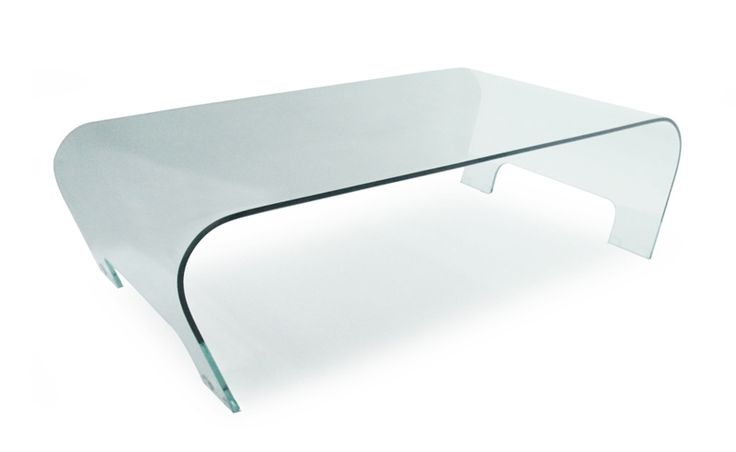 Table Basse TETTY en Verre Courbé 12 mm Transparent