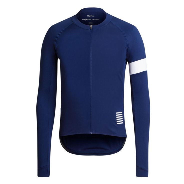Rapha Long Sleeve Pro Team Jersey. My winter jersey is like this but in merino.  This jersey plus a Rapha merino under layer down to -26° F.  At that temp. you need to trust what you wear.