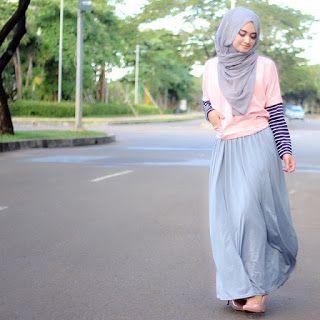 life your style: 10 Gaya Outfit Rok Panjang