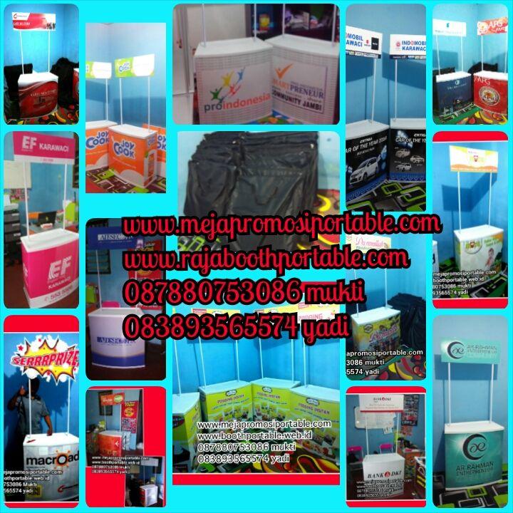 booth portable, bisa ilipat & mudah dibawa, cocok untuk jualan atau promosi www.rajaboothportable.com www.mejapromosiportable.com