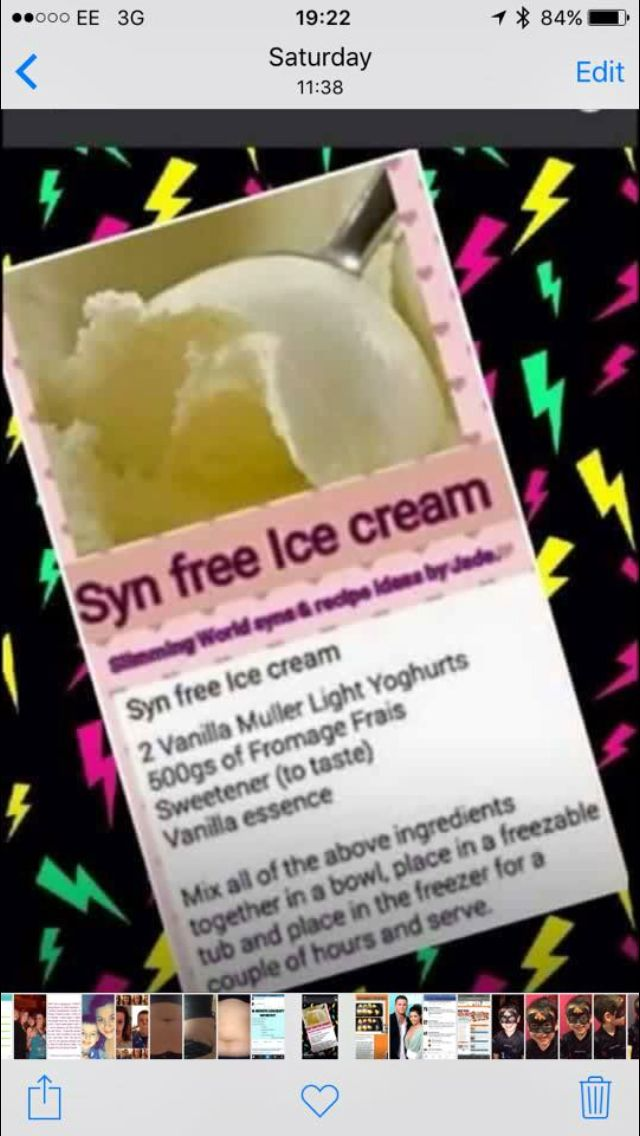Syn free ice cream