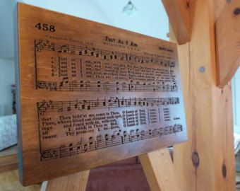 Just As I Am hymn carving on Maple wood - Edit Listing - Etsy