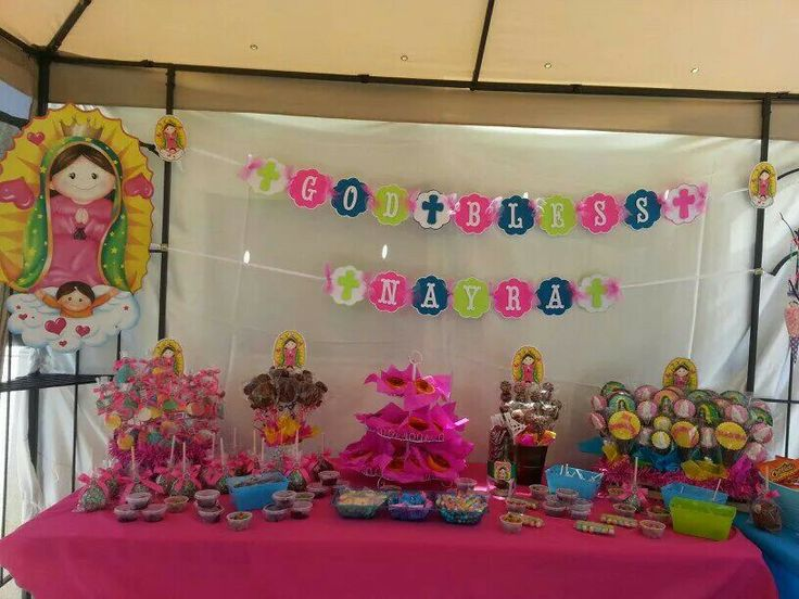 Mesa de dulce de virgencita plis | Alyssa's First Communion ...