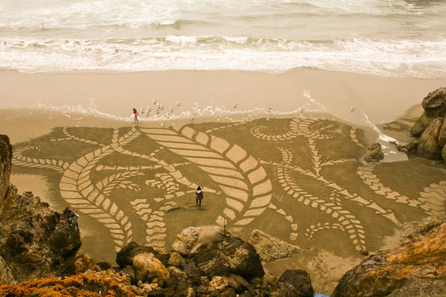 Sand painting, Andres Amador