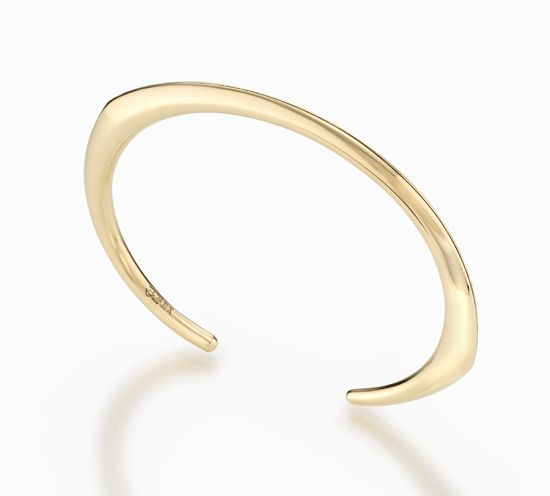 Stack Cuff Bracelet by Britt Anderson. Hand-fabricated 18K yellow gold bracelet. The artist uses only recycled, ecologically processed gold for all of his pieces.