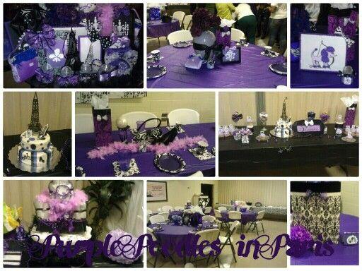 shower purple babyshower ideas purple paris parties ideas shower