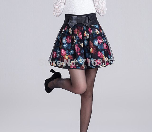 Check current price 2016 Women High Waist Pleated Floral Short Mini Skirt Skater Women Skirt Mini Skirt for Women just only $17.64 with free shipping worldwide  #womanskirts Plese click on picture to see our special price for you