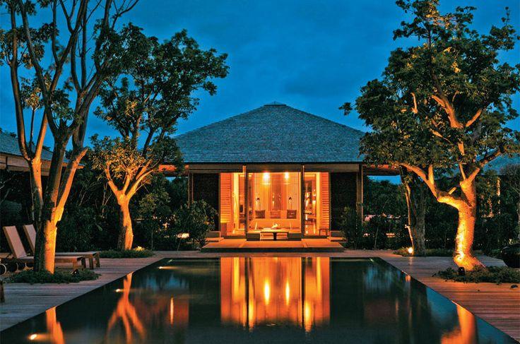 Bangalô do resort Amanyara, na Ilha de Providenciales, em Caicos