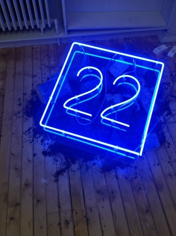 22 neon, 2012 by artist Stephen Thorpe
