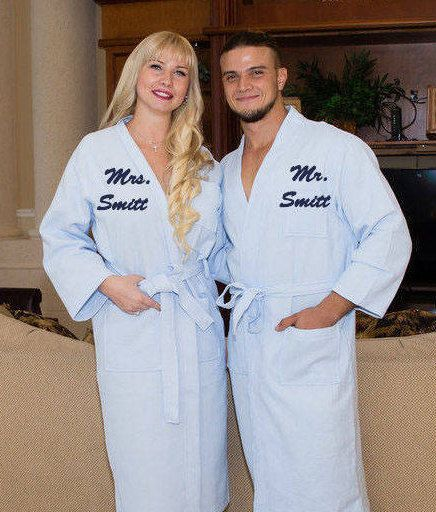 6ceb0fd03c Personalized Bath Robe - Valentine s Day - Groom and Bride Robes - Couples  Gifts - His and Hers Robes- King or Queen Robe - Bath Robes