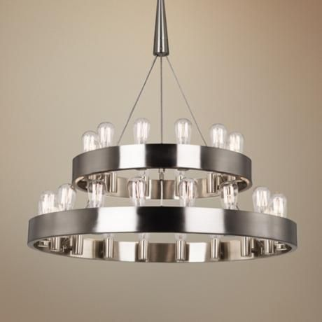 173 best lighting images on pinterest chandeliers blankets and robert abbey candelaria 35 wide 30 light nickel chandelier aloadofball Image collections