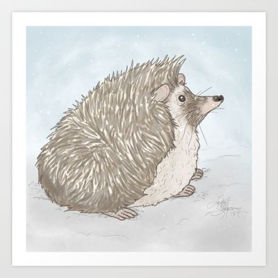 Pondering Art Print by Twig and Briar Friends - $16.00