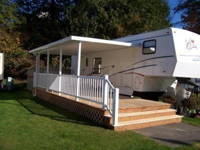 29 best camper deck ideas images on pinterest campers for Rv decks designs