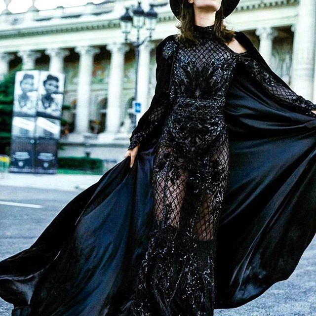 Exuberance being her kingdom, #ZuhairMurad's #Fall2016 #Hautecouture queen has a pronounced taste for the #Bohemian life & @holacom sure knows how to portray this carefree hippie chic brimful spirit  #BohoRapture