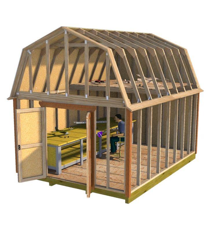 10 best workshop sheds images on pinterest workshop shed for Hobby barn plans