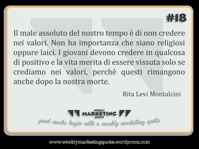 Nel mio piccolo, ho scelto di salutare Rita Levi Montalcini citando una delle sue infinite perle di saggezza.    È stata e rimarrà un esempio di vita per tutti; una persona che ha veramente fatto la differenza e aiutato molte persone, con un particolare occhio di riguardo verso i giovani. La sua semplicità e la sua concretezza sono di grande ispirazione, almeno per me.    Grazie Rita
