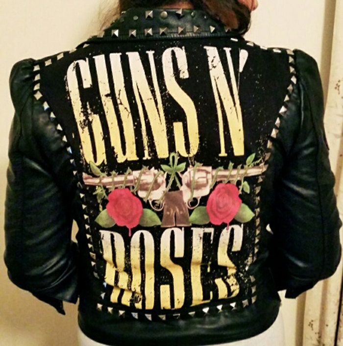 Guns and roses leather jacket