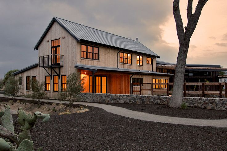 pole barn houses in Exterior Transitional with contemporary balcony