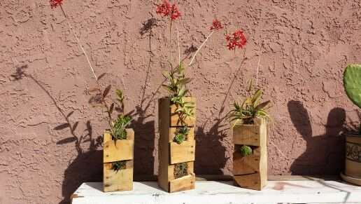 Orchid planners made from old pallets