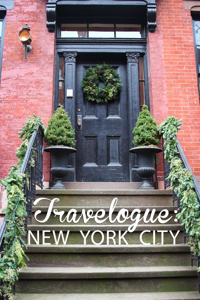 travel new york  Travelogue: New York City (during the holidays)