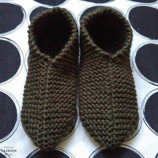 Hausschuhe selbstgestrickt, Stricken, gratis Anleitung, einfach, Wolle, warme Füße